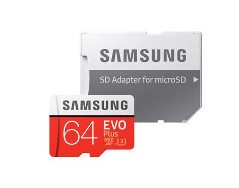 마이크로SD카드 EVO Plus + SD어댑터 (64GB)
