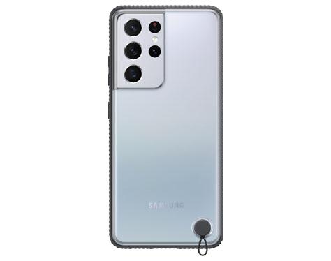 S21 Ultra 5G 클리어 프로텍티브 커버 (블랙)